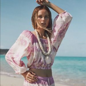 Spell And The Gypsy Coco Lei Peasant Top Lilac